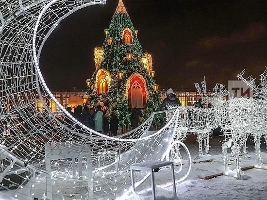 Расходы на новогоднюю иллюминацию в Казани вырастут  в 10 раз