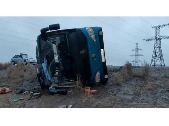 В опрокинувшемся автобусе находились сотрудники астраханского «Газпрома»