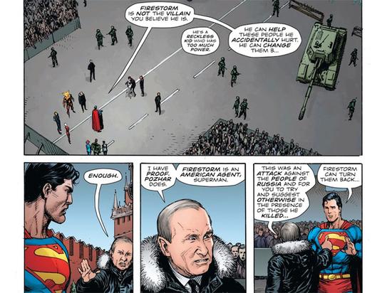 Путин встретился с Суперменом на страницах комикса