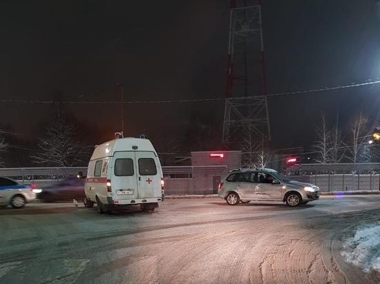 В Туле автомобиль скорой помощи попал в ДТП