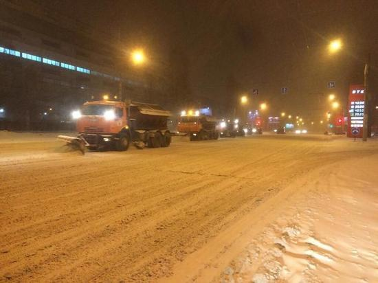 В ночь на 6 декабря с улиц Воронежа вывезли 1,5 тыс. кубометров снега.