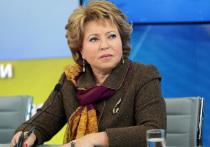 Валентина Матвиенко заявила, что стране нужны вытрезвители
