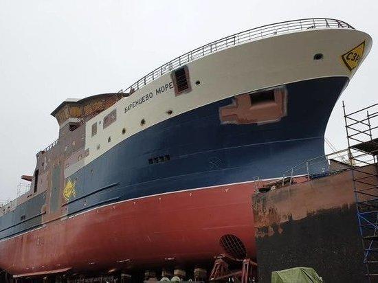 В Выборге спущен на воду первый из четырёх траулеров для Архангельского тралфлота