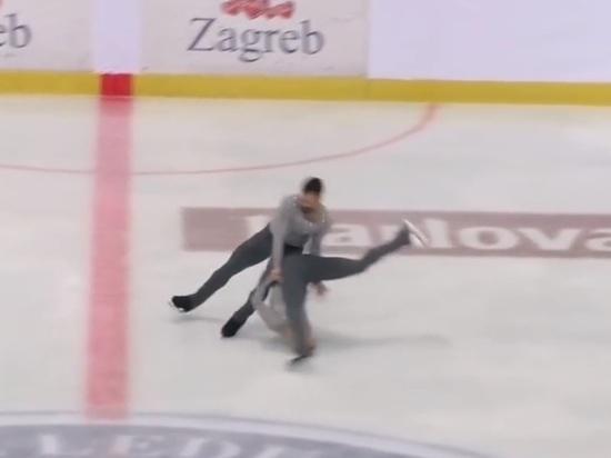 Американский фигурист воткнул свою партнершу головой в лёд