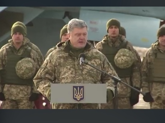 Порошенко опубликовал фото с десантником, носящим эмблему СС