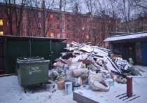 Залежи мусора начали возле контейнерной площадки во дворе дома №13 по пр