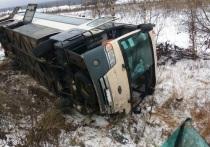 Перевернувшийся под Людиново автобус ехал из Брянска