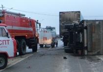 Два грузовика не поделили дорогу под Котласом