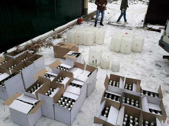 В Волгограде накрыли цех с контрафактным алкоголем