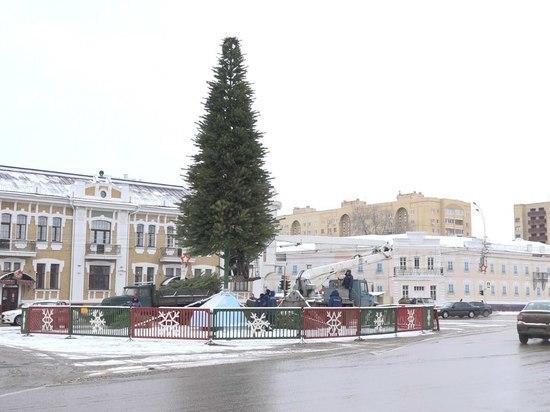 В Тамбове начали украшать главную елку
