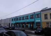 В центре Ярославля памятник архитектуры выкрасили в цвет голубого яйца