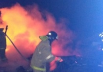 Попариться не удалось: в Некрасовском районе сгорела частная баня