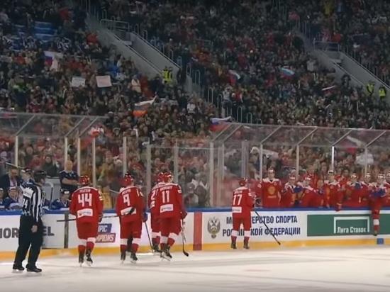 Хоккеист изНовокузнецка забросил первую шайбу вразгромном матче РФ - Финляндия