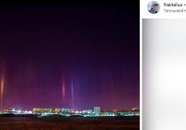 В ночь на 17 декабря жители Нижнего Тагила наблюдали в небе редкое явление, напоминающее северное сияние, но имеющее совершенно другую природу