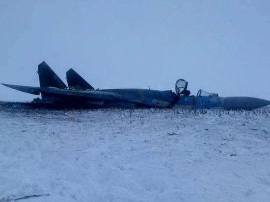 Опубликовано фото разбившегося на Украине Су-27