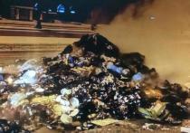 Водитель мусоровоза выгрузил горящие отходы прямо на проезжую часть