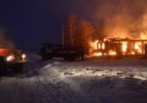 Крупный пожар в Палехском районе, сгорело 200 кв. метров хозпостроек