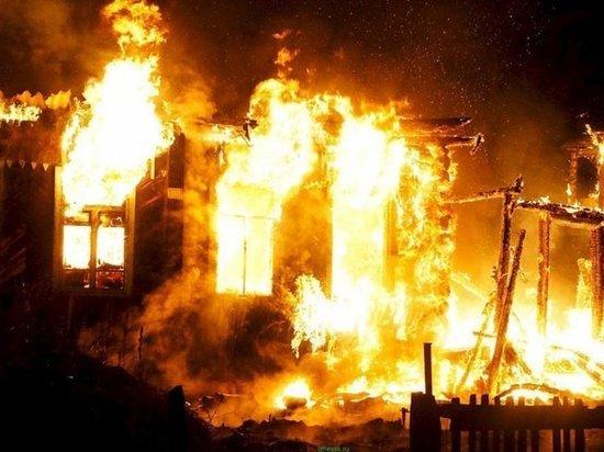 В Сосновском районе при пожаре в собственном доме погиб мужчина