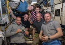 Космонавты, находящиеся на борту Международной космической станции, поставят на новогодний стол фотографии шампанского и салата оливье