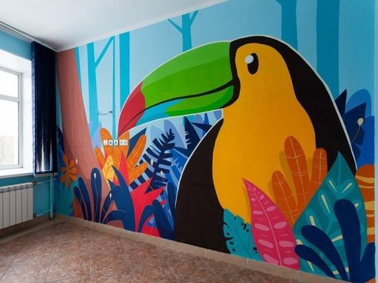В омской больнице создали «сказочные джунгли»