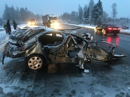 В Смоленской области в страшной аварии с фурой погибли два человека