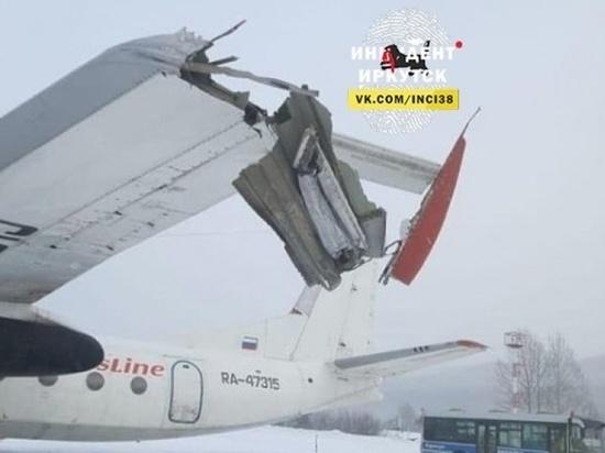 Самолет снес опору освещения в аэропорту Бодайбо