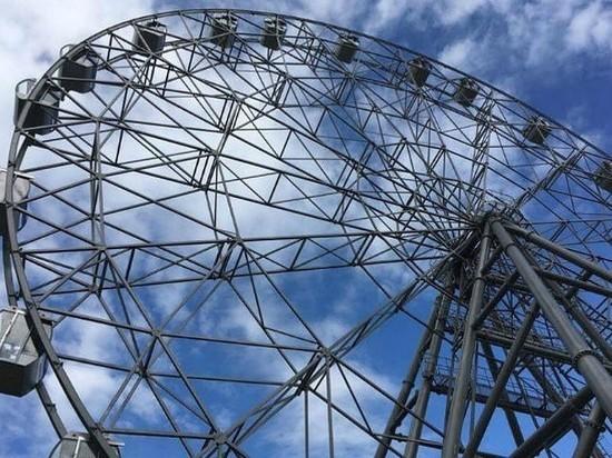 В Иркутске из-за отключения электричества остановилось колесо обозрения с людьми