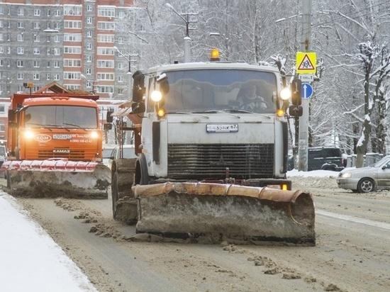 В Смоленске проводится комплексная уборка снега