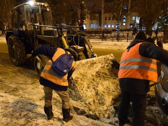 В Тамбове после ночного снегопада вывезено 775 кубометров снега