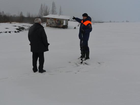 В МЧС рассказали, можно ли выходить на заледеневшее Онежское озеро