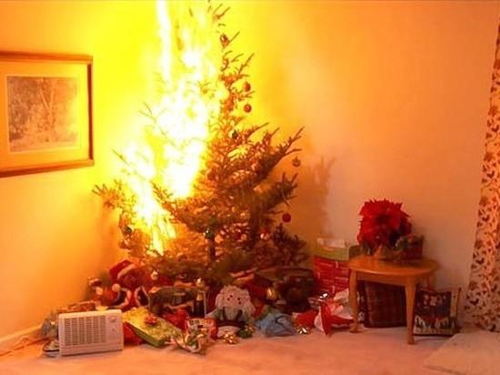 Новогодняя елка стала причиной пожара в Ульяновске