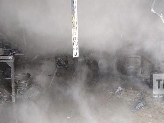 В Казани горел домостроительный комбинат