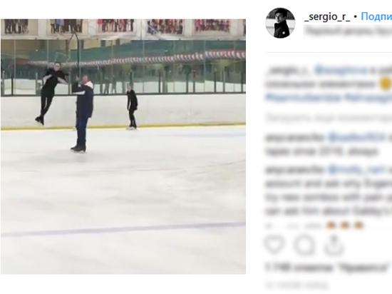 Тренер показал, как Загитова отрабатывает четверной прыжок
