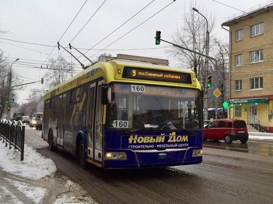Троллейбусы сразу нескольких маршрутов остановились в Калуге