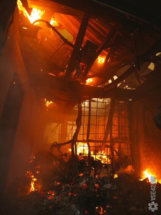 Пожар в Кемерове унес жизнь человека