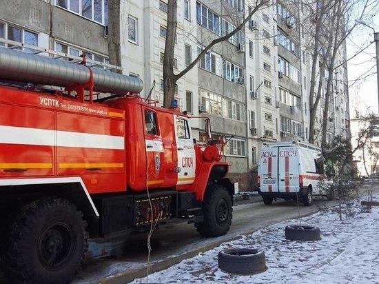 Под бой курантов в Астрахани горела квартира
