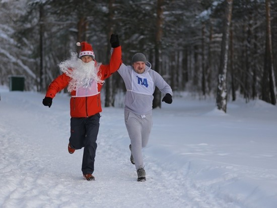 Сургутяне начали новый год с пробежки