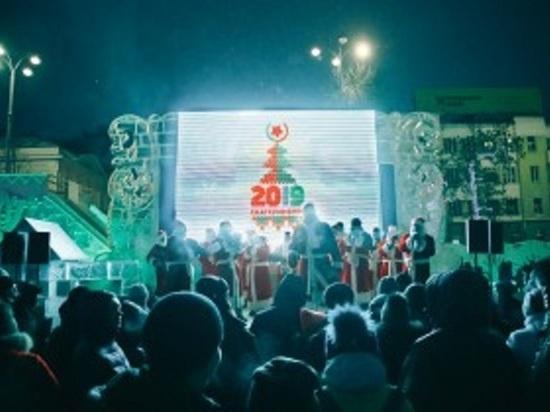 Около восьми тысяч человек встретили Новый год на главной площади Екатеринбурга