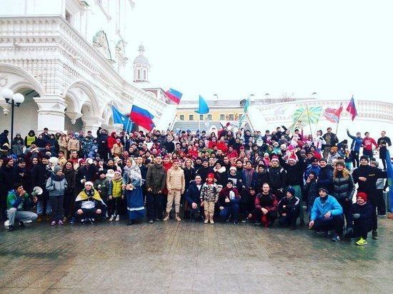 В Астрахани несколько сотен горожан вышли на пробежку