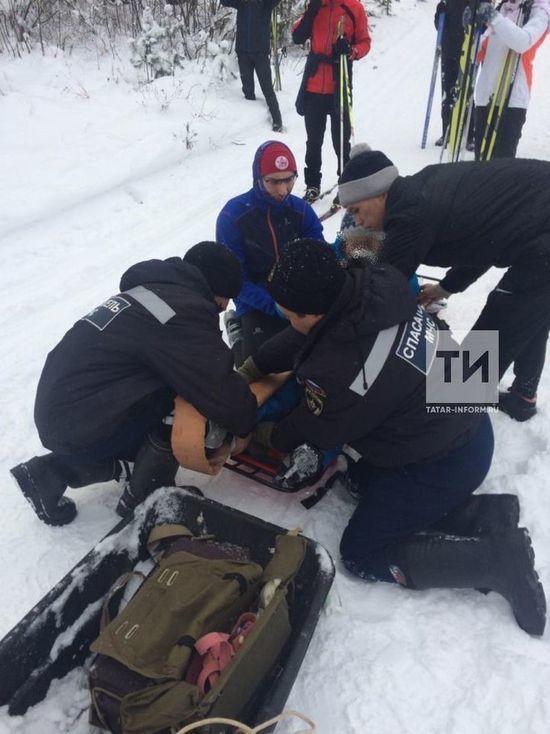 В Казани спасли повредившую ногу лыжницу
