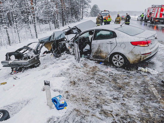 Четыре человека погибли в ДТП на трассе «Кола»