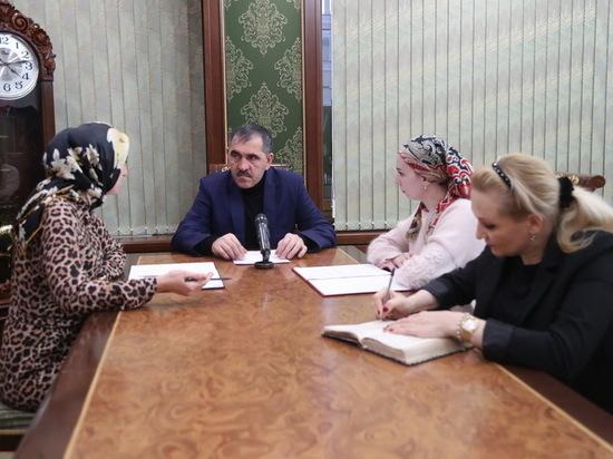 Кабмин Ингушетии организовал праздник для 10 малоимущих семей