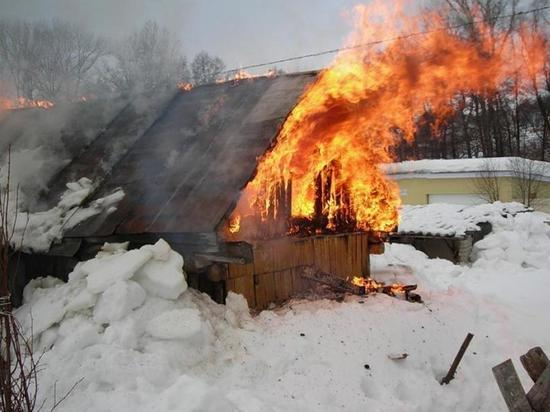 Под Тамбовом сгорела баня