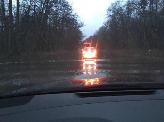 На Куршской косе затопило дорогу