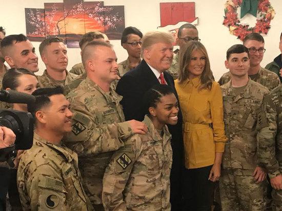 Как пресса освещала визит Трампа на базу Аль-Аббас