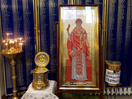 В Калмыкии пребывают мощи Святителя Спиридона Тримифунтского