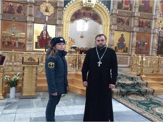 Накануне Рождества МЧС проверило безопасность в тверских церквях
