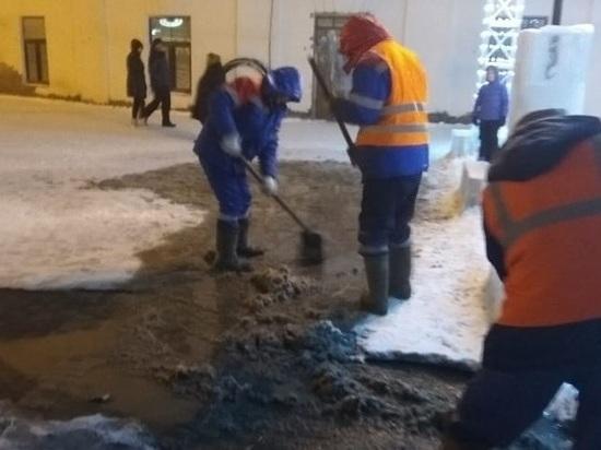 Потоп на Спасской каток не повредил