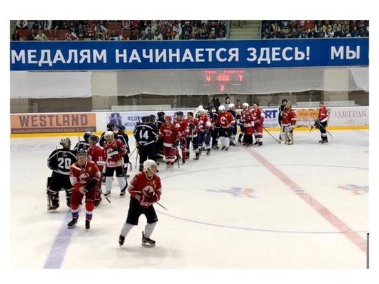 В Серпухове состоялся товарищеский хоккейный матч
