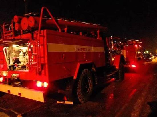 Рано утром пожар под Тверью разбудил деревенских жителей